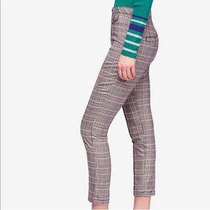 🆕Free People   Crop Plaid Trousers in Multi